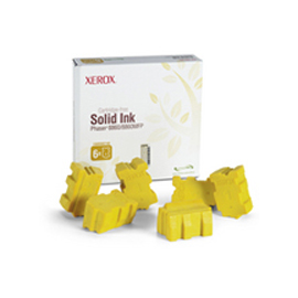 6 stick genuine solid ink giallo xerox phaser 8860