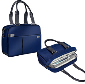 "Borsa shopper smart traveller per pc 13,3"" blu leitz complete"