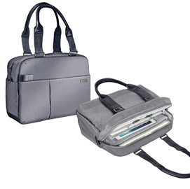 "Borsa shopper smart traveller per pc 13,3"" grigia leitz complete"