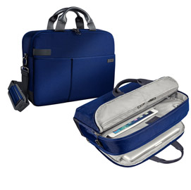 "Borsa smart traveller per pc 15,6"" blu leitz complete"