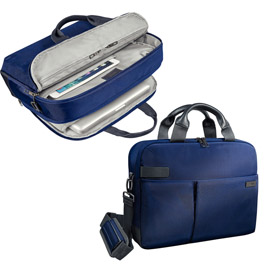 "Borsa smart traveller per pc 13,3"" blu leitz complete"