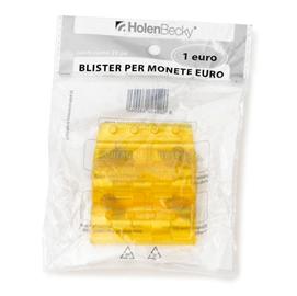 ac276b685d Blister 20 Portamonete in PVC 1euro giallo