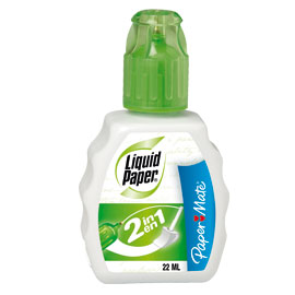 Correttore liquid paper 2in1 22ml papermate