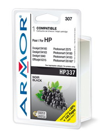 Cartuccia nera per hp n337 dj 6980, 6940, 5940, photosm. C4180 serie 20ml