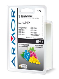 Cartuccia colori per hp n57 photosmart 7760, psc 1300 21ml