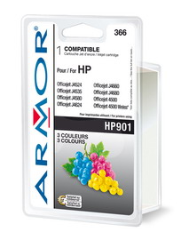 Cartuccia colori per hp officejet j4524, j4535, j4580, j4624, j4660 18ml
