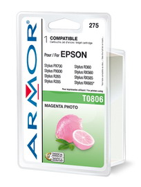Cartuccia magenta chiaro photo per epsonstylus photo r265, r285, r360, rx560,