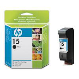 Cartuccia a getto d'inchiostro hp n.15 nero 25ml