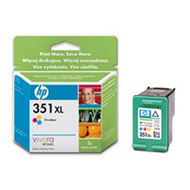 Cartuccia a getto d'inchiostro hp 351xl tricromia con inchiostro hp vivera