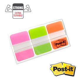 Dispenser 66 post-it index strong 686-pgoeu 25x38mm colori vivaci