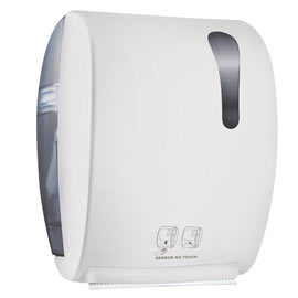 Dispenser asciugamani elettronico 875 kompatto advan bianco soft touch