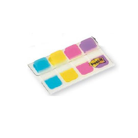 Dispenser 40 segnapagina post-it index strong mini 676 vivaci 15,8x38mm